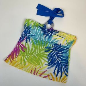 La Blanca Tankini Top Sz 10 Tie Neck Floral Swim